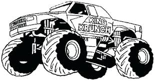 Monster Truck Coloring Pages For Toddlers Free Printables Online Hot