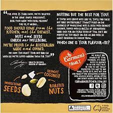 Carman's Nut Bar Dark Choc Macadamia Coconut Gluten Free 40 Bars Awesome Heart Touching Qua