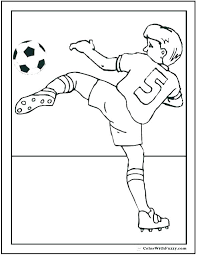 Soccer Coloring Sheet Playing Soccer Soccer Player Messi Coloring