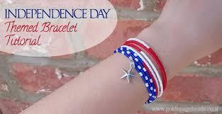 diy independence day themed bracelet