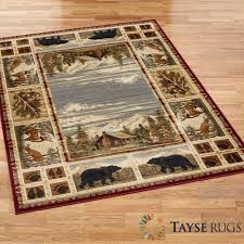 rustic area rugs hunters cabin bathroom washable x rug for less wool dalyn rubber backed purple soft safavieh marvelous large size of hearth northwoods