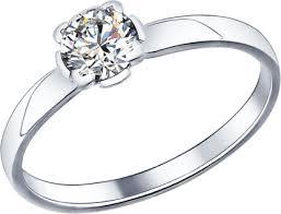 Серебряное помолвочное <b>кольцо SOKOLOV 89010010_s</b> с ...