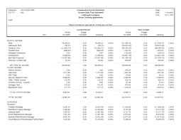 Comparative Income Statement Template