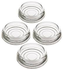 Set of 4 Glass Furniture Caster Cups 3