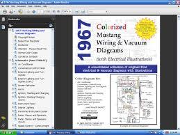 fordmanuals com 1967 colorized mustang wiring vacuum diagrams cd screenshots mustang colorized wiring diagrams