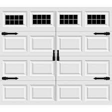 garage door windows kitsCarriage House Style Vinyl Garage Door Decal Kit Faux Windows