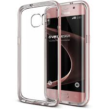 Vrs Design Galaxy S7 Edge Case Vrs Design Crystal Bumper Rose Gold Clear Cover Military Protection For Samsung S7 Edge