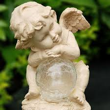 agreeable angel solar lights in lighting ideas set wall decorating