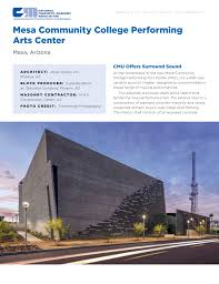 Mesa Community College Interior Design Mesa Community College Performing Arts Center Manualzz Com