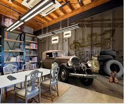 Custom 3d Behang Retro Klassieke Auto Muurschildering Achtergrond