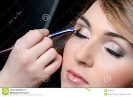 how to put makeup on face put the makeup on the face stock photos image
