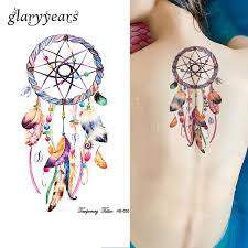 Dream Catcher Tatt 100 Sheet Dreamcatcher Tattoo Feather Decal HB100 Dream Catcher 53