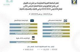 """الجامعة العربية المفتوحة on Twitter: """"تعلن #الجامعة_العربية_المفتوحة عن فتح  باب القبول والتسجيل للفصل الدراسي الثاني للعام الأكاديمي 2021/2020 م في  برامج البكالوريوس في كليات (دراسات إدارة الأعمال - دراسات الحاسب الآلي -"""
