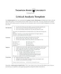 Book Analysis Template Literary Analysis Template Demiks Co