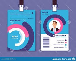 Business Id Template Corporate Id Card Professional Employee Identity Badge Man