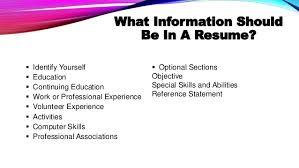 ... Abilities Reference Statement; 5. Characteristics Of A Successful Resume  ...