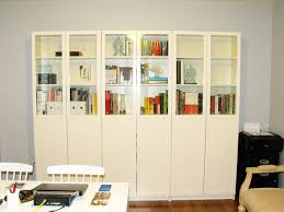 idyllic glass doors billy bookcase wells ikea bookshelf bookcases with lateral file cabinet hutch white computer
