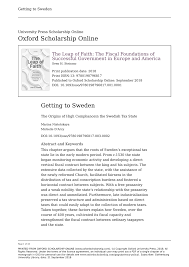 Tax Print 21 Useful Charts Pdf Getting To Sweden The Origins Of High Tax Compliance