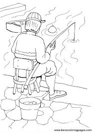 Small Picture Fishing coloring pages for children
