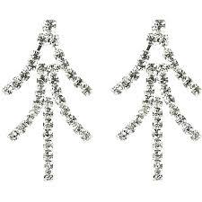 fashion costume jewellery wedding gift clear diamante bling chandelier earrings loading zoom