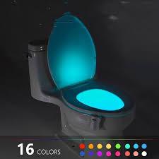 2 PCS <b>16 Colors</b> Human Motion Sensor <b>Toilet</b> Light <b>Bathroom</b> Night ...