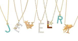 new initial necklaces