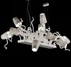fun funky lighting. Fun And Funky White Or Grey Glass Dining Table Chandelier Fun Lighting G