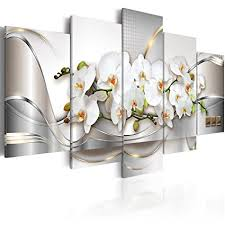 >amazon 5 panel butterfly orchid flowers canvas print wall art  5 panel butterfly orchid flowers canvas print wall art painting decor for home decoration picture for