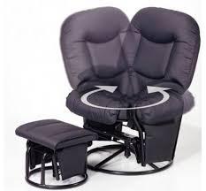 hauck 687024 metal glider 11 relaxing nursing chair black