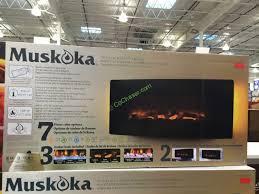 costco 1049041 muskoka 42 curved wall mount electric fireplace box
