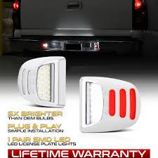 2018 Silverado License Plate Light Bulb Details About Tribal 99 13 Chevy Silverado Avalanche Chrome Led License Plate Light Housing
