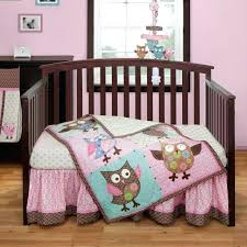 bananafish crib bedding bubblegum baby love bird calico owl