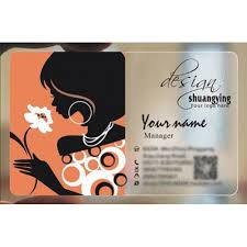 Online Busines Card Custom Frosted Transparent Pvc Business Card Online Hairdressing Template 056