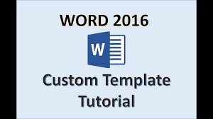 Microsoft Word Study Guide Template Word 2016 Creating Templates How To Create A Template In Ms Office Make A Template Tutorial