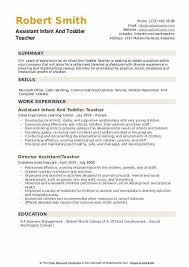 Toddler Teacher Resume Inspiration Infant Teacher Resume Preschool Teacher Resume Sample Writing Tips