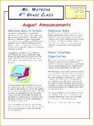 Class Newsletter Free Newsletter Templates For School Counselors Of Class