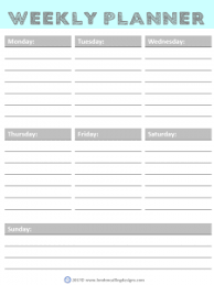 Weekly Planner London Calling Designs