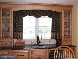 Wood Window Treatments Ideas Kitchen Cool Simple Small Kitchen Bay Window Treatment Ideas