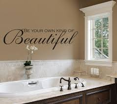 be your own kind of beautiful wall decals bathroom amandas throughout decor idea 16