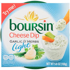 boursin light garlic herbs cheese dip