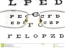Eyeglasses And Eye Test Chart Stock Photo Image Of Check