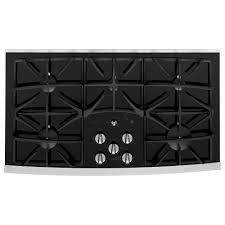 ge profile 36 built in gas on glass cooktop with power boil burner
