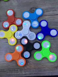 Fidget Spinner Light Blue Led Edc Fidget Spinner Toy With Continuously Color Changing Led Light Hand Fidget Spinner Bearing Stress Reducer For Adhd Crochet Finger Puppet Felt