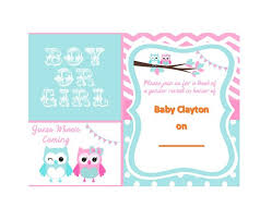 free photo invitation templates 17 free gender reveal invitation templates template lab