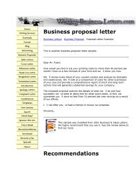 Examples Of Business Letter Proposals Save Example Business Proposal ...