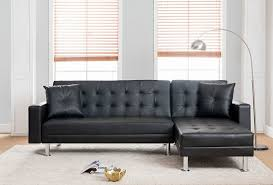mgs 8036 bk 2 pc taylorann modern style black faux leather sectional sofa reversible chaise