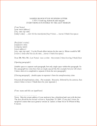 Block Style Business Letter Example Contract Template Format Date