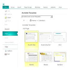 Microsoft Office Calendar Template Publisher Templates Free Download ...