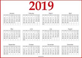free calendar printable 2019 free printable 2019 calendar template blank download
