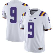 Limited Youth Joe Burrow Lsu Tigers Nike Football College Jersey White